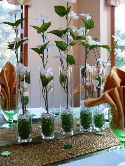 St. Patrick's Day table, St. Patrick's day tablescape, St. Patrick's Day placesetting