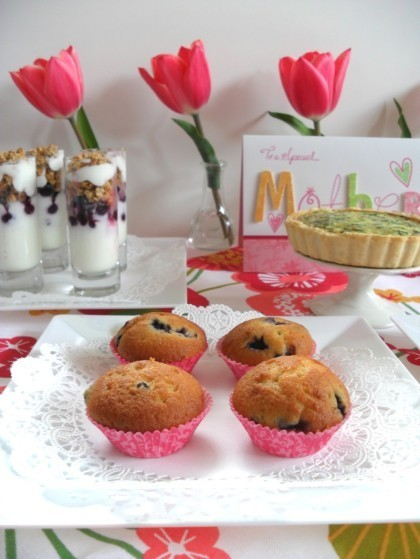 Mother's Day ideas, Mother's Day brunch ideas, mother's day brunch, blueberry muffins