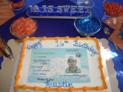 Sweet 16 Party Ideas For Boys Driver S License Theme Best