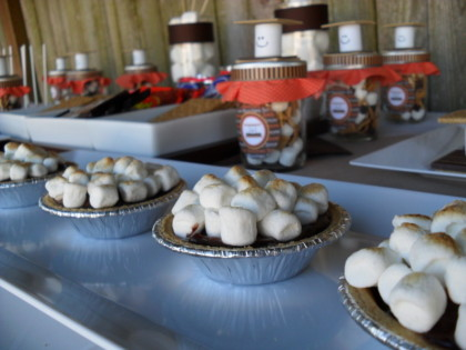 smores pies, smores, cute smores, smores party, smores party idea, summer party ideas