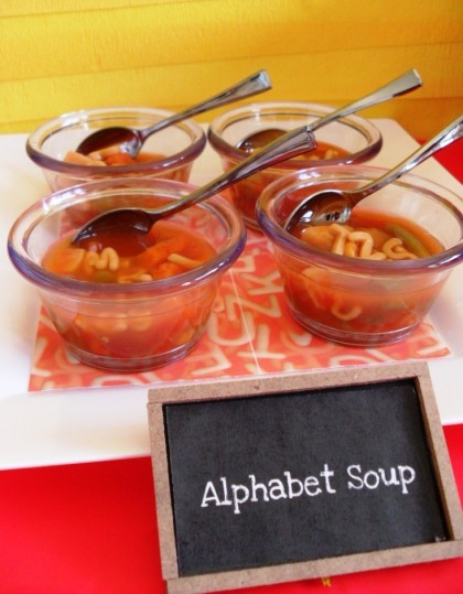 alphabet soup, Back to school snacks, school snacks, back to school party, teacher's gifts, teacher appreciation