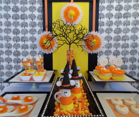 halloween candy corn party party pinching