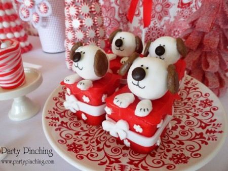 puppy truffles, puppy christmas presents, christmas puppy, dog dessert, dog candy, puppy candy, cute dessert, cute food