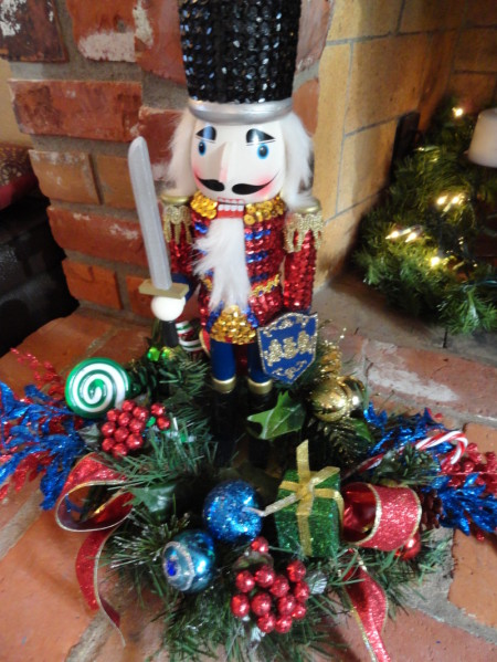 the smaller nutcrackers came from rite aid at 2 apiece and the mouse nutcracker was from michaels using a 50 off coupon only 7
