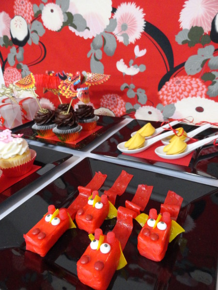 Chinese new year dessert and treat ideas easy lunar lucky decor chinese new year desserts chinese new year party dragon cupcakes dragon treats forumfinder Image collections