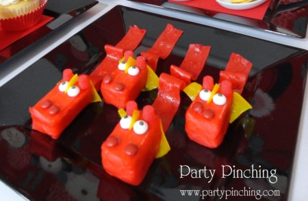 cute food, cute dragon rice krispie treat, chinese new year dessert, chinese new year ideas