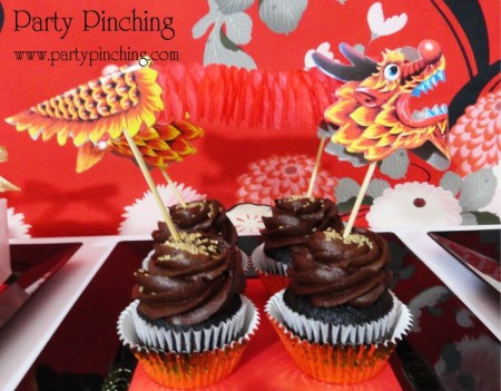 cute food, dragon cupcakes, chinese new year cupcakes
