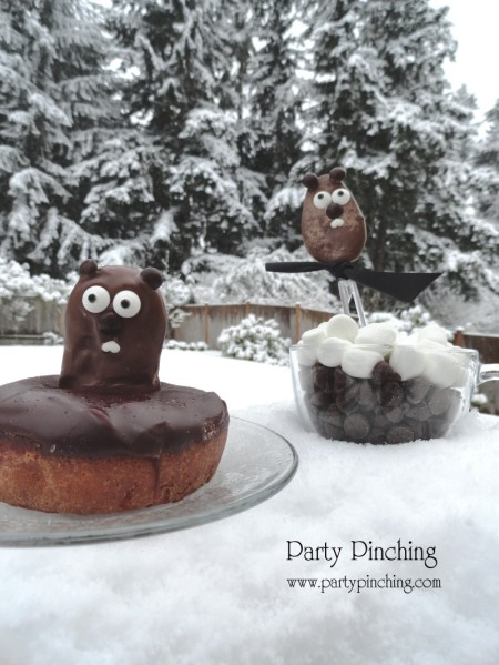 cute food, groundhogs day dessert, groundhogs day donut, groundhog day breakfast