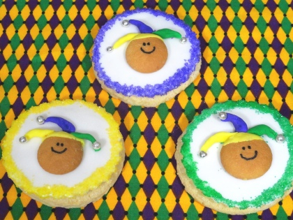 mardi gras cookies, fat tuesday cookies, jester cookies, cute food, mardi gras desserts