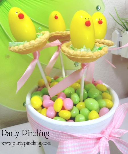 Easter chicks, cute food, Easter chick candy, marshmallow eggs, chick pop