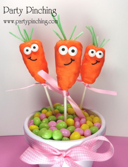 Cute food, Easter Carrot, Carrot Treat, Rice Krispie Treat, Easter Dessert, Easter Kids,