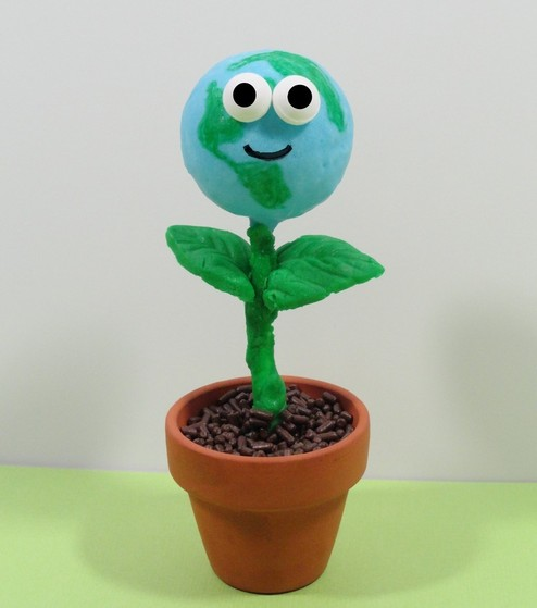 earth day ideas, earth day cupcake, earth day cake pop, earth day treat