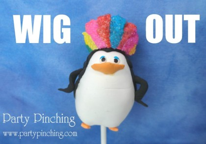 Madagascar 3, skipper, penguin cake pop, penguin cake pop wig, Madagascar 3 wigging out, skipper penguin
