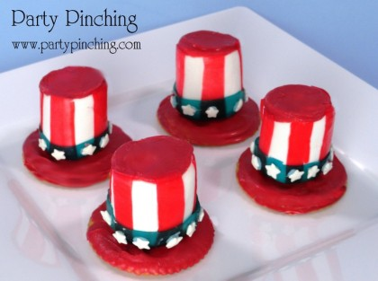 uncle sam cookie, 4th of july cookie, uncle sam marshmallow hat, uncle sam hat, Fourth of July dessert
