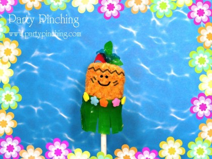 luau marshmallow pops, tiki pops, cute luau ideas,
