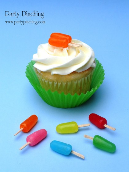 popsicle cupcakes, popsicle cupcake topper, summer cupcake, cute popsicles, cute cupcakes, mike and ike