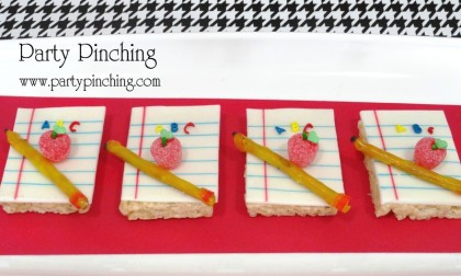 school rice krispie treback to school snack, after school snack, back to school ideas, party ideas, teacher gift ideas, teacher appreciation gift, school snacksats, notepad rice krispie treats, 