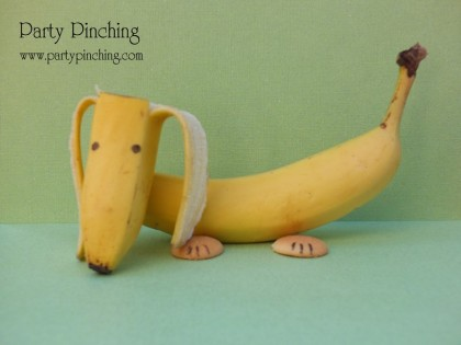 banana dog, cute food, cute banana, nilla wafers, banana dessert, food for kids, banana snack