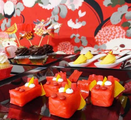 Rice krispie dragon treats for chinese lunar new year easy to make these lucky little dragons are so fun to make even the kiddos will want to help they are not only adorable but tasty too chinese new year treat ideas forumfinder Gallery