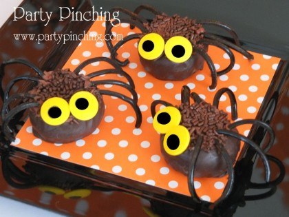 halloween party halloween dessert table halloween kids treats spider donuts moon pie