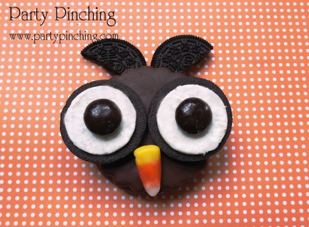 owl moon pie, halloween treat, kid friendly halloween dessert, easy halloween snack