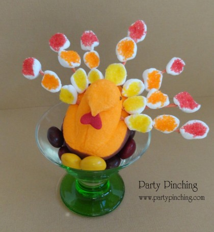 turkey peep, marshmallow turkey, thanksgiving dessert, cute thanksgiving treat, cute thanksgiving dessert