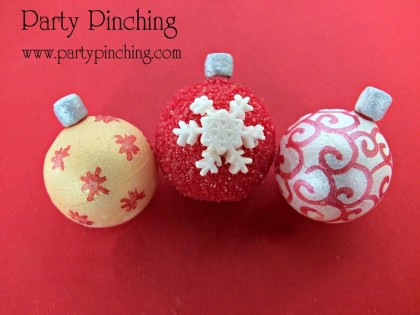 candy christmas ornaments,christmas candy ideas, lindt truffles, lindt christmas chocolate, cute christmas dessert