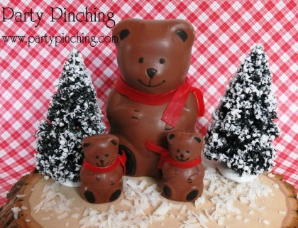 lindt bear, easy christmas desserts, chocolate bear