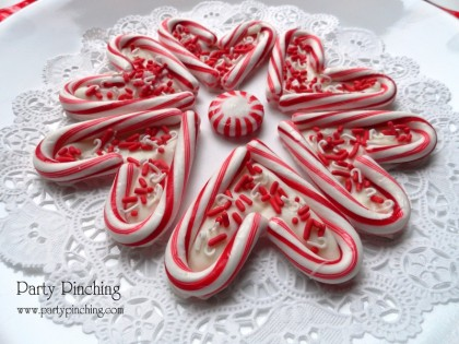 candy cane hearts, candy cane white chocolate, candy cane sprinkles, cute candy cane hearts