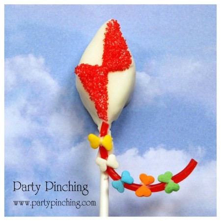 kite cake pop, spring cake pop, kite theme party ideas, kite dessert ideas, spring dessert ideas
