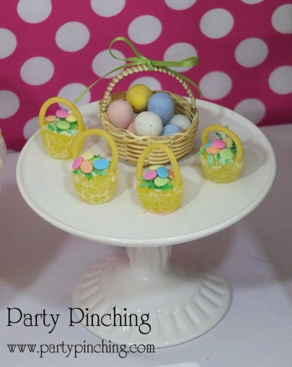 Easter gumdrop baskets, Easter baskets, Candy Easter baskets, Easter dessert ideas, Easter dessert table, Easter treats for kids, easy Easter desserts, Easter cupcakes, Easter cookies, Easter bunny