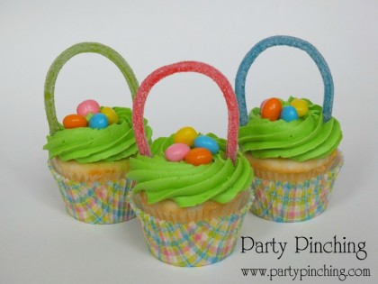 Easter cupcakes, easy Easter cupcakes, Easter basket cupcakes, Easter dessert ideas, Easter dessert table, Easter treats for kids, easy Easter desserts, Easter cupcakes, Easter bunny party