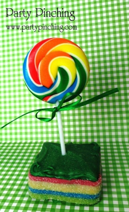St. Patrick's Day ideas, St. Patrick's Day dessert ideas, rainbow party idea, St. Patrick's day for kids, rainbow lollipop
