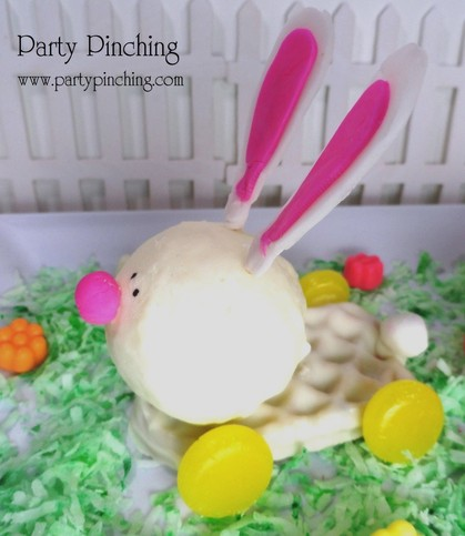 Easter dessert ideas, easter dessert for kids, easter bunny dessert, easter waffle