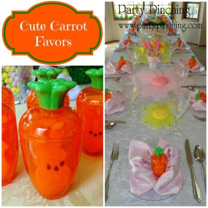 Easter ideas, cute easter ideas, easter carrot, easter peeps, easter favors, easter tablescape, dollar tree