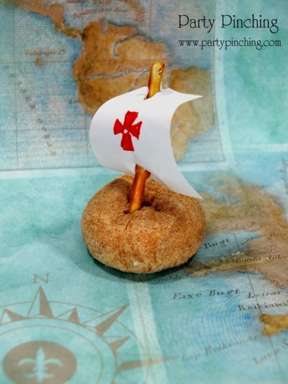 columbus day ideas, donut ship, columbus day ship