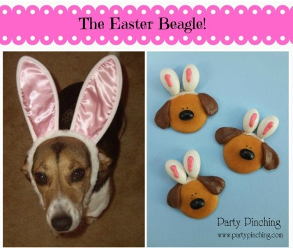 easter beagle cookie, easter dessert ideas, easter for kids, easy easter dessert, no bake easter cookie, cute easter bunny cookie, cute dog cookie, bunny ear cookie