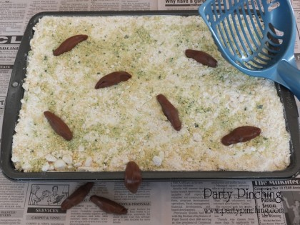 april fools day ideas, kitty litter cake