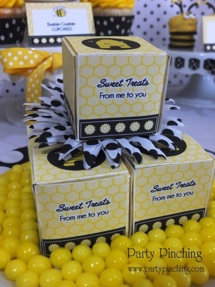 bee party ideas, bee cookies, cute bee desserts, bee cupcakes, bee hive donuts, bee themed party