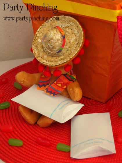 cinco de mayo ideas, fiesta party ideas, siesta pillow box favors,