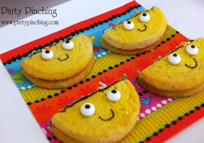 cinco de mayo ideas, taco cookie, cute taco cookie, cinco de mayo ideas for kids