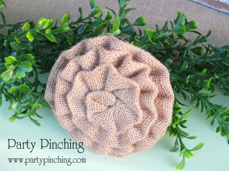 burlap rosette, greenhouse cake, garden cake, garden party ideas, garden party desserts