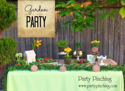 garden party ideas, garden party desserts, greenhouse cake