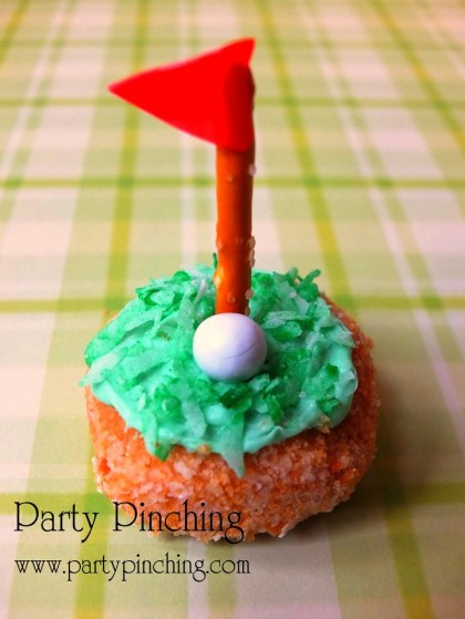 golf donut, father's day ideas, hole in one donut, cute donut