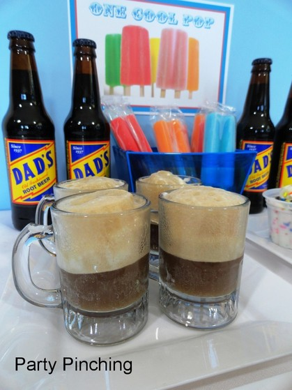 father's day ideas, root beer floats, dad's root beer