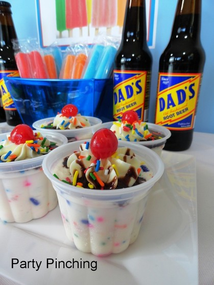 popsicle party, ice cream party, father's day ideas, cute ice cream sundaes, root beer floats