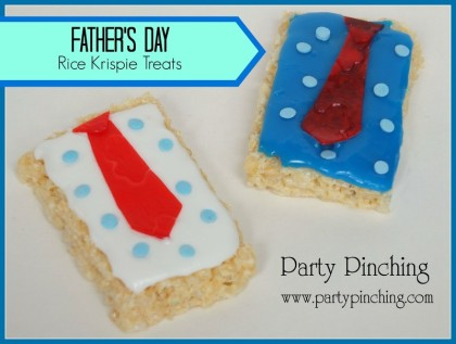 Father's Day ideas, rice krispie treat shirt and tie, shirt and tie cookie, father's day treat, father's day cookie