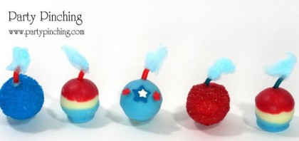 4th of july candy, 4th of july truffles, 4th of july smoke balls, 4th of july ideas