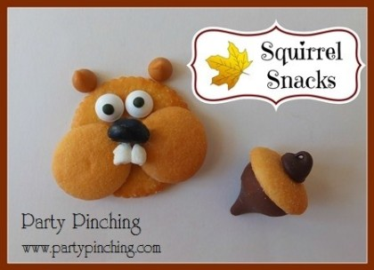 squirrel cookie, acorn cookie, squirrel snacks