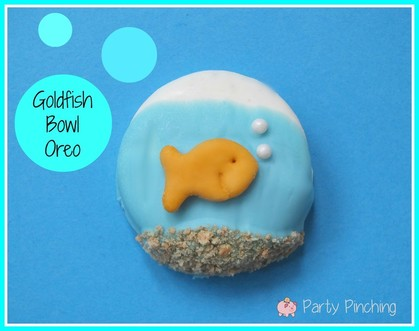https://partypinching.com/goldfish-bowl-oreos/fun food for kids, sweet treats, summer treats
